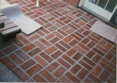 Brick patio detail